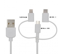 Kabel 3w1 do telefonu MICRO USB, USB-C, IPHONE